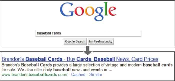 نمونه ای از نمایش توضیحات  سایت در نتایج جستجو